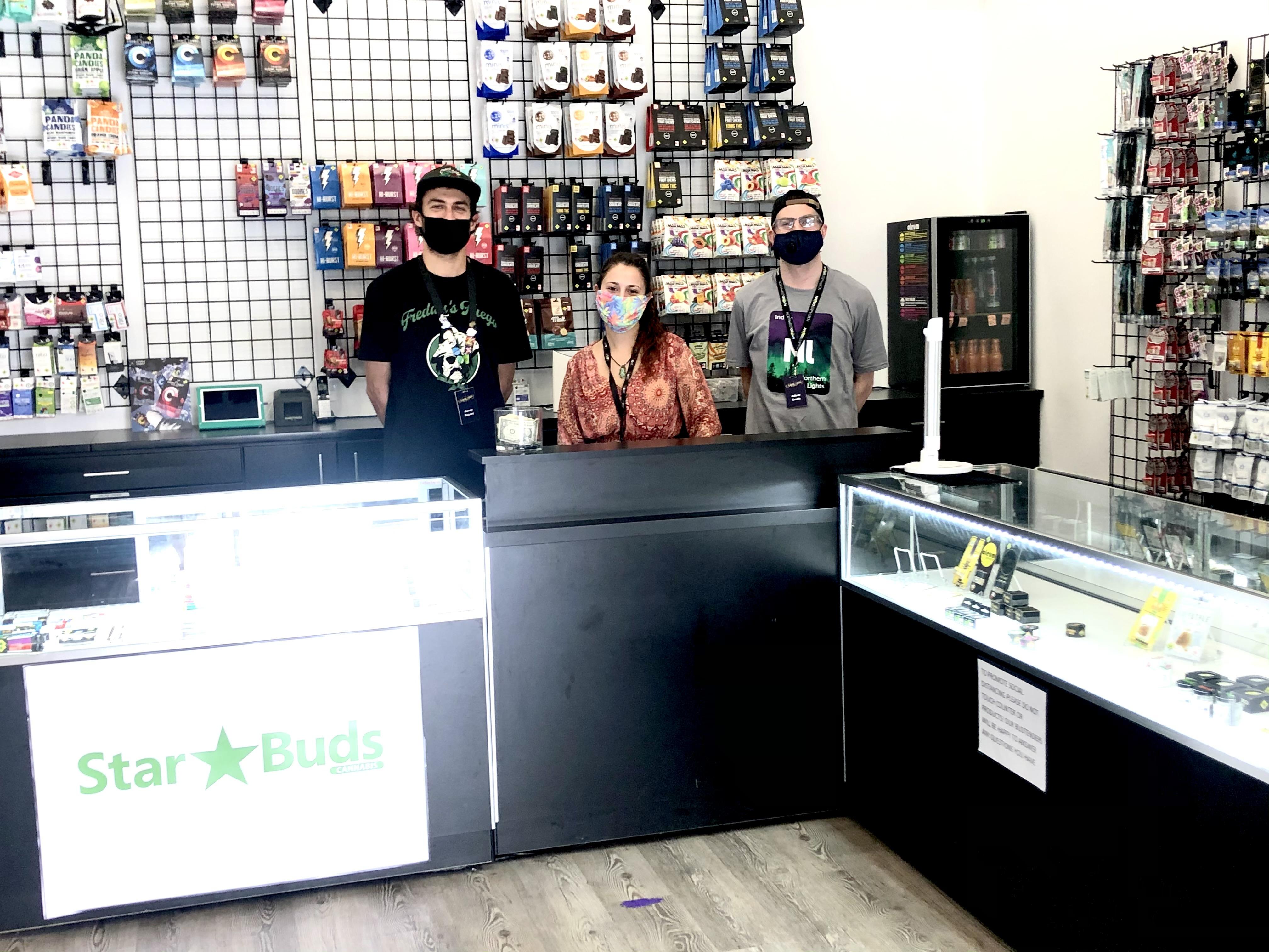 Star Buds Kirkland Budtenders inside the dispensary